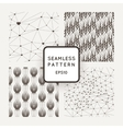 A set of four seamless patterns Polygons vector image vector image