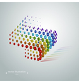 Abstract geometric cubic modern grunge rainbow vector image vector image