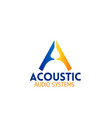 acoustic audio system emblem for company branding vector image vector image