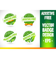 Additive Free Badge vector image vector image