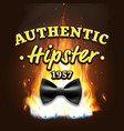 authentic hipster label vintage emblem on vector image vector image