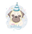 birthday cards set with cute cartoon dogs vector image vector image