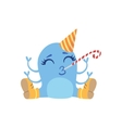 Blue Friendly Monster In Boots And Hat vector image vector image