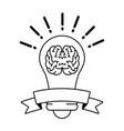 brain idea creativity vector image vector image