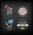 Buffet menu restaurant design All you can eat vector image vector image