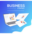 business strategy - flat design style colorful web vector image