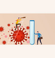 business vision protection against virus and vector image vector image