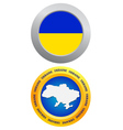 button as a symbol of Ukraine vector image vector image