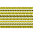 caution tape yellow attention ribbon with warning vector image vector image