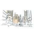 chicago usa sketch city line art vector image