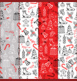 christmas seamless texture with the christmas vector image