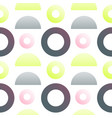 circles and halfes gradients seamless pattern vector image vector image