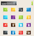 cleaning company bookmark icons vector image