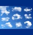 clouds realistic set vector image