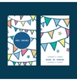 colorful doodle bunting flags vertical round frame vector image vector image