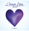 cosmic love concept heart with night sky and vector image vector image