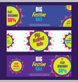 creative big festive sale design vector image vector image