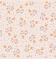 cute autumn flower seamless pattern vector image