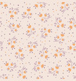 cute autumn flower seamless pattern with with vector image