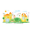 cute real estate cottages yellow residential vector image
