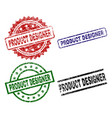 damaged textured product designer stamp seals vector image vector image