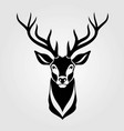 deer icon isolated on white background vector image