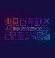 designer modern colorful outline banner vector image vector image