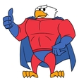 Eagle superhero thumb up gesture vector image vector image