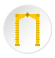 Eastern arch icon flat style vector image vector image