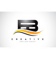 eb e b swoosh letter logo design with modern vector image vector image