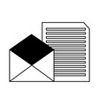 email letter message correspondence vector image