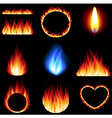 Fire forms icons set vector image