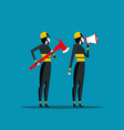 firefighting fireman with rescue equipment vector image