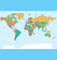 flat colors world map vector image vector image