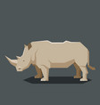 flat geometric rhinoceros vector image vector image
