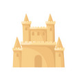 flat icon of royal sand castle fortress vector image vector image