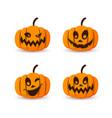 halloween pumpkin icon 3d set autumn symbol vector image