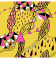 Hand drawn background with artistic patternBright vector image vector image