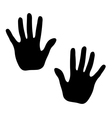 Hands print on white background vector image