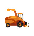 harvester machine combine farm machinery vector image vector image