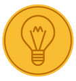 hint lamp gold coin vector image vector image
