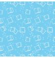 Ice cube babbles and water blue textile print vector image vector image