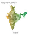 isolated icon india map polygonal geometric vector image vector image