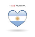 love argentina symbol flag heart glossy icon vector image
