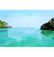 Low poly Island vector image vector image