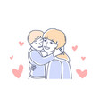 motherhood mother love and son mom hugging kid vector image