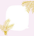 palm leaf on white background with place for your vector image