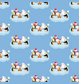penguins and rabbit pattern vector image