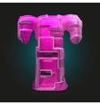 pink plastic figure t vector image vector image