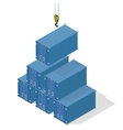 Pyramid of sea containers vector image
